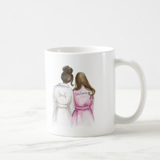Bridesmaid? Mug Dk Brunette Bride Long Br Maid