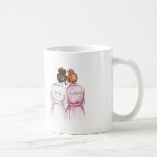 Bridesmaid? Mug Dk Brunette Bride Redhead Bun Maid