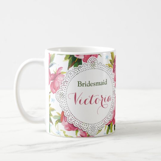 Bridesmaid Mug, Maid of Honour gift, Wedding Mugs