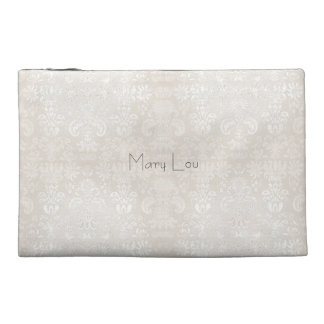 Bridesmaid_Name_Wedding-Favor-Damask*Sueded_Bag Travel Accessory Bag