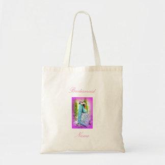 Bridesmaid napping mermaid budget tote bag
