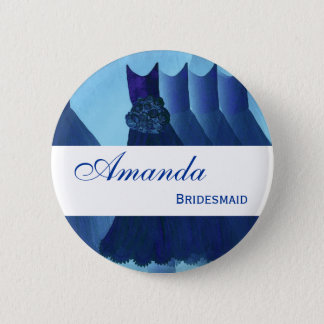 BRIDESMAID Navy Blue  Gowns F200B 6 Cm Round Badge