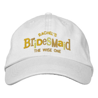 Bridesmaid Party Wedding Gift Embroidered Hat