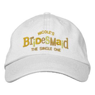 Bridesmaid Party Wedding Gift Embroidered Baseball Cap