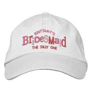 Bridesmaid Party Wedding Gift Embroidered Hats