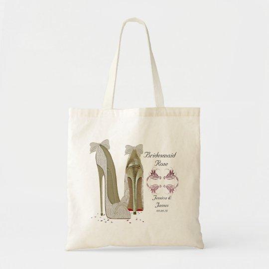 Bridesmaid Personalise Wedding Tote Gift Bag