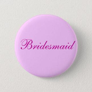 Bridesmaid Pink button