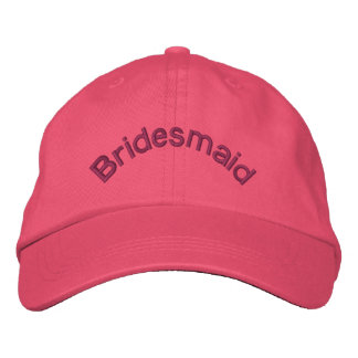 Bridesmaid Pink Embroidered Hat