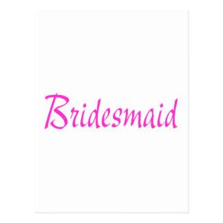 Bridesmaid Pink Post Cards