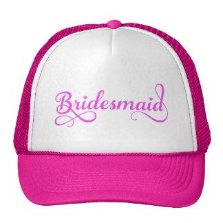 Bridesmaid pink word art text design for t-shirt hats