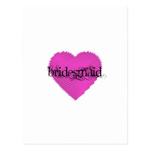 Bridesmaid Post Card