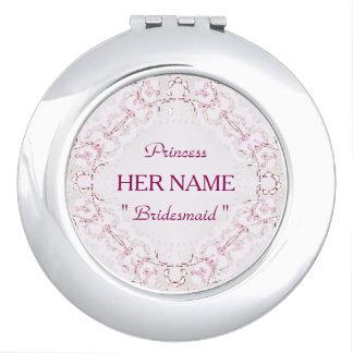"""Bridesmaid ""  Princess_Template_Lace_ Vanity Mirror"