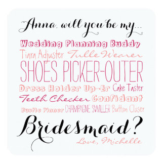 Bridesmaid Proposal Card Ask Bridesmaid