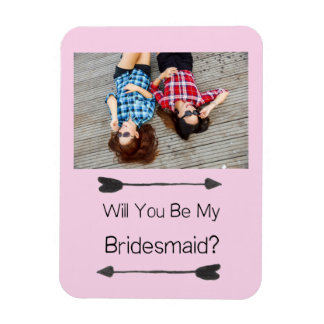 Bridesmaid Proposal Photo Magnet