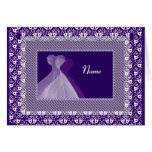 BRIDESMAID - PURPLE Gowns and LaceTrim Greeting Card