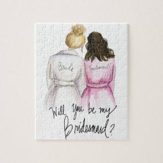 Bridesmaid? Puzzle Bl Bun Bride Br Waves Bm