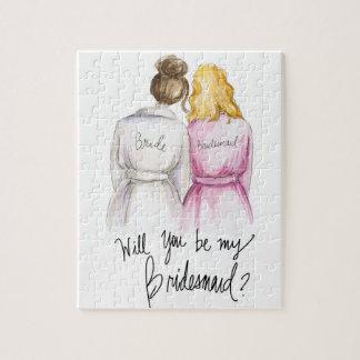 Bridesmaid? Puzzle Br Bun Bride Bl Waves Bm