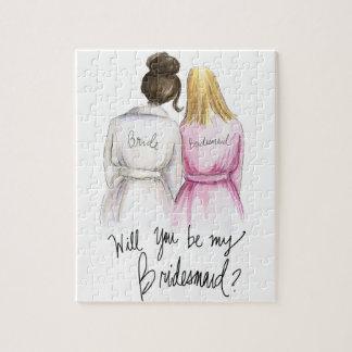 Bridesmaid? Puzzle Dk Br Bun Bride Bl Long Bm