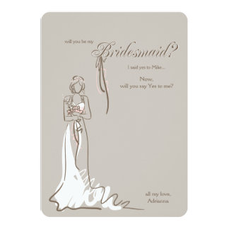 Bridesmaid Question Card