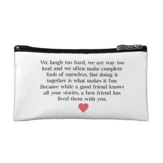 Bridesmaid Quote Clutch Bag Cosmetics Bags