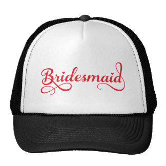 Bridesmaid red word art text design for t-shirt hats