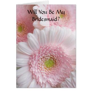 Bridesmaid Request Card