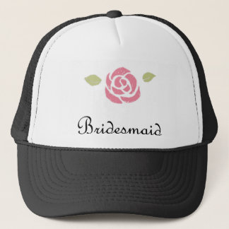 Bridesmaid Rose Trucker Hat