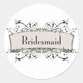 *Bridesmaid Round Sticker