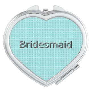 Bridesmaid-Royal-Spring-Blue-Plaid-HEART Makeup Mirrors