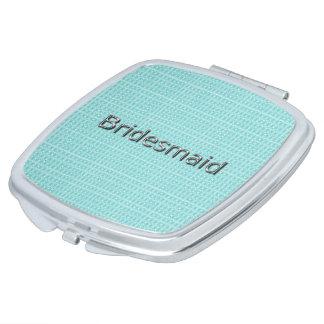 Bridesmaid-Royal-Spring-Blue-Plaid_Multi- Shapes Compact Mirrors