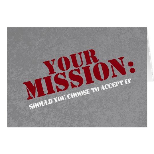 Bridesmaid Secret Spy Mission Adventure Card