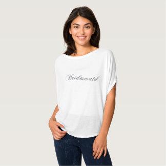 Bridesmaid Silver Glitter Flowy Shirt