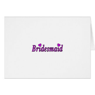 Bridesmaid Simply Love Card