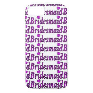 Bridesmaid Simply Love iPhone 7 Case