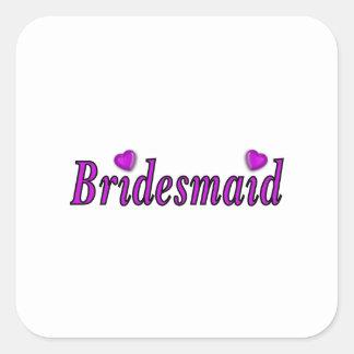Bridesmaid Simply Love Square Sticker