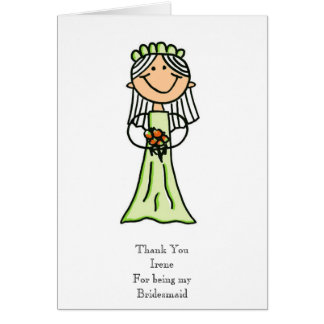 Bridesmaid Sketch, Thank You Card
