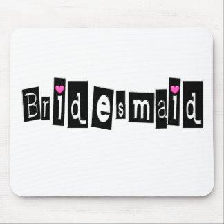 Bridesmaid (Sq Blk) Mouse Mat