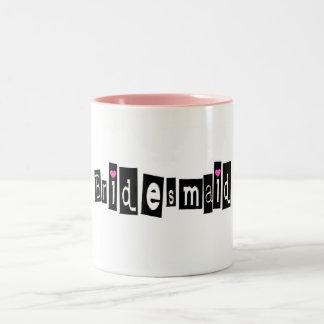 Bridesmaid Sq Blk Mug