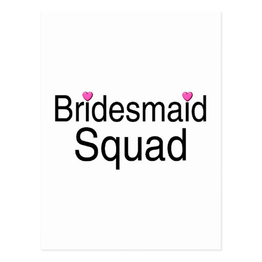 Bridesmaid Squad Post Cards