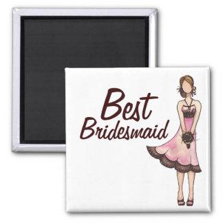 Bridesmaid Square Magnet