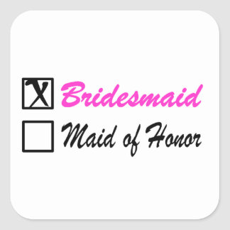 Bridesmaid Square Sticker