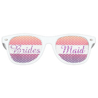 Bridesmaid Sunset Watercolor Ombre Purple Beach Retro Sunglasses