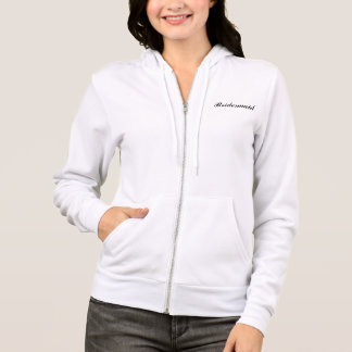 """Bridesmaid/Team Bride"" Fleece Hoodie"