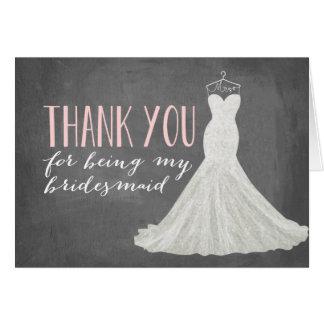 Bridesmaid Thank You | Bridesmaid Greeting Card