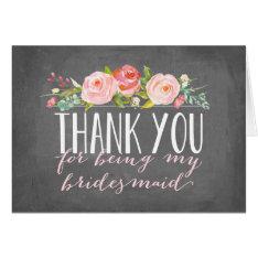 Bridesmaid Thank You | Bridesmaid Note Card at Zazzle