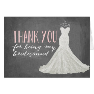 Bridesmaid Thank You | Bridesmaid Note Card