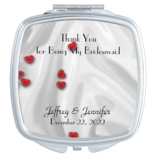Bridesmaid Thank You Custom Compact Mirror