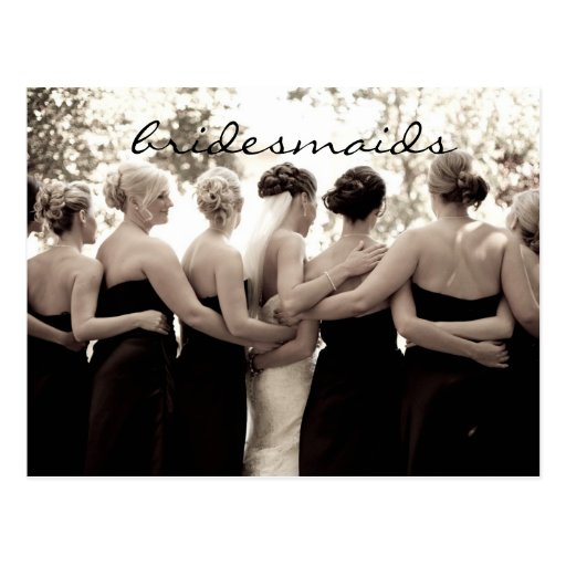 Bridesmaid Thank You Note Postcard