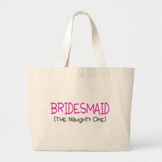 Bridesmaid The Naughty One Jumbo Tote Bag