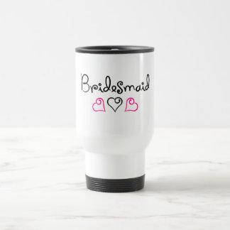 Bridesmaid Three Hearts Travel Mug